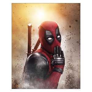 Deadpool. Размер: 40 х 50 см